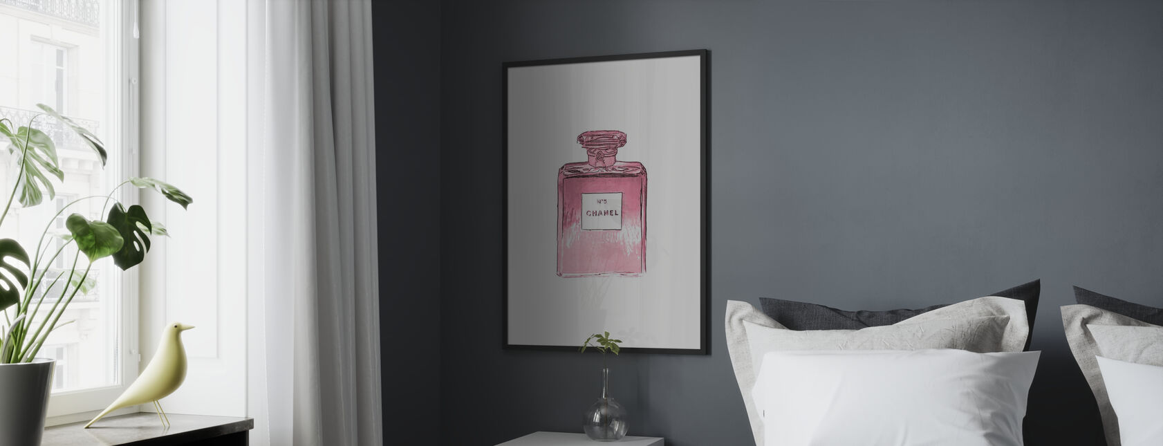 Chanel No 5 - Framed print - Bedroom