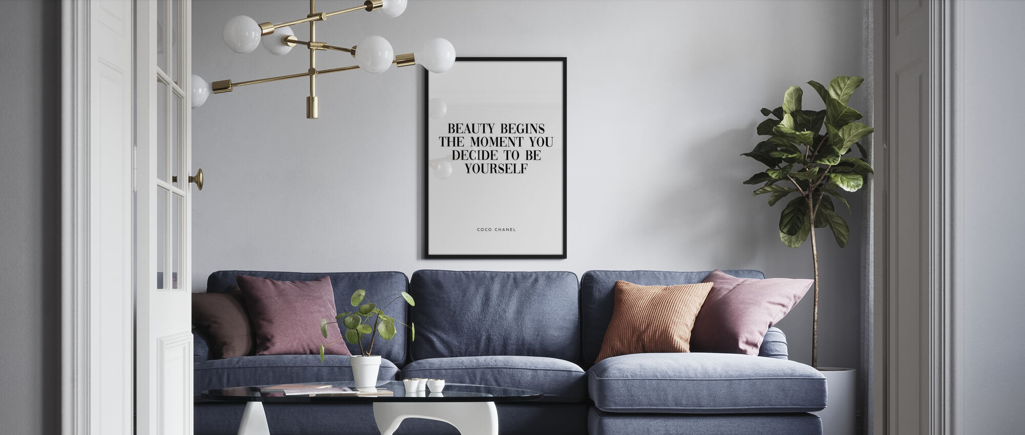 Coco Chanel Quote - Poster - Living Room