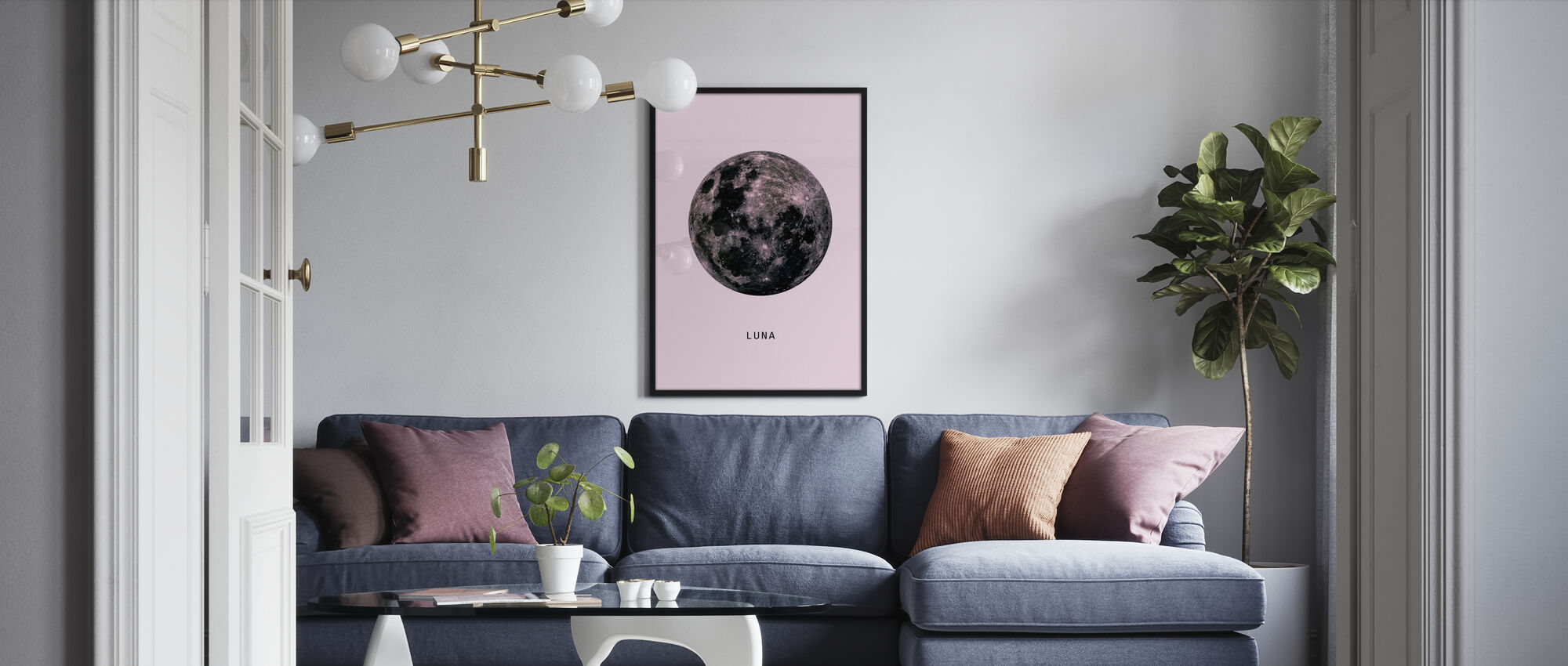 Moon - Pink - Poster - Living Room