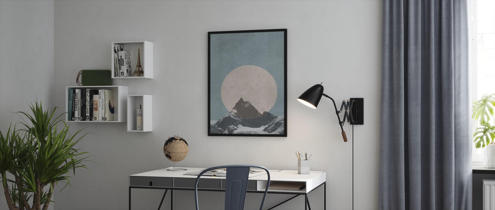 Mountain Touch - Ingelijste print - Kantoor