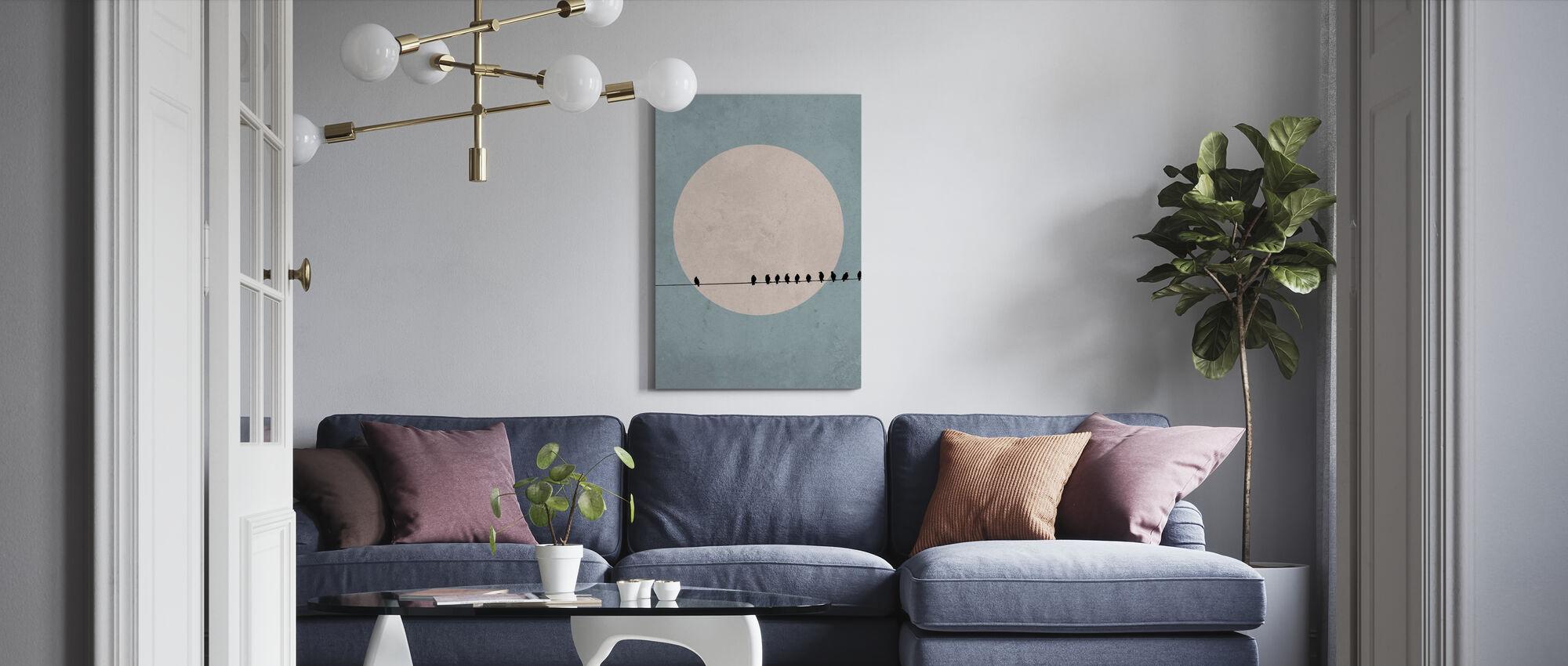 Maanvogels II - Canvas print - Woonkamer