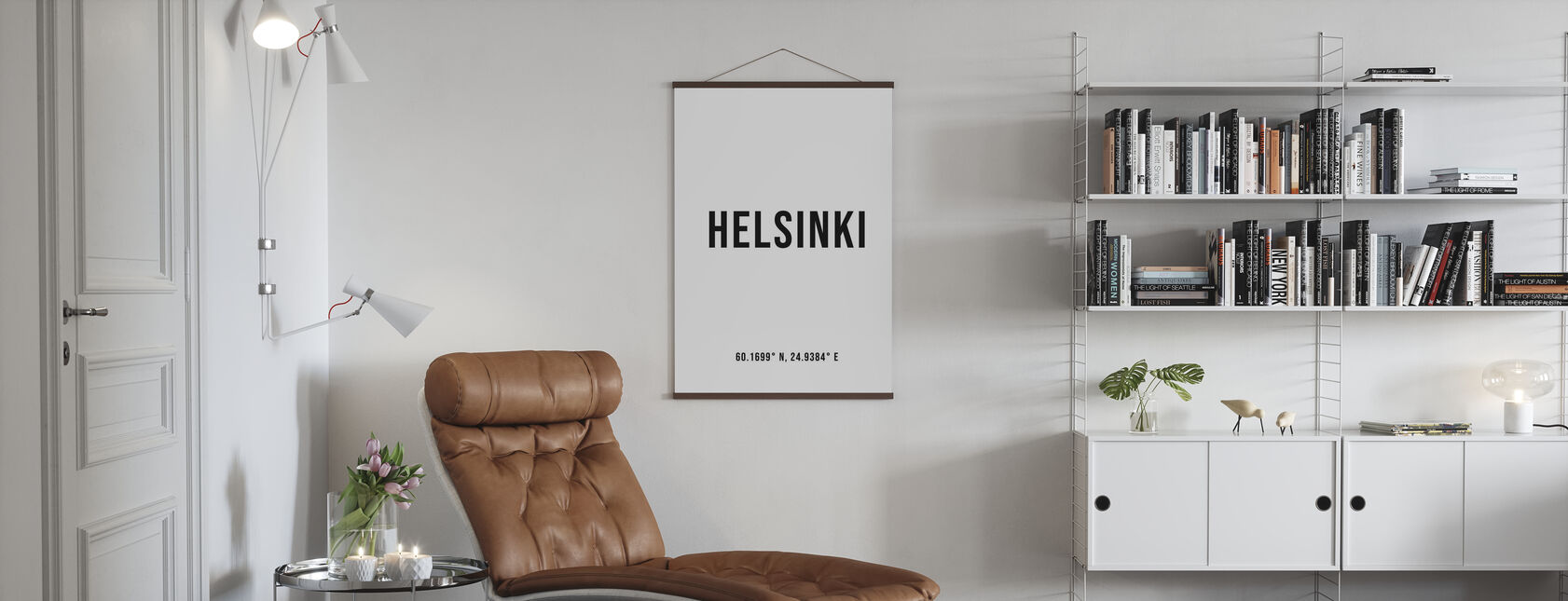 Helsinki Coordenadas - Póster - Salón