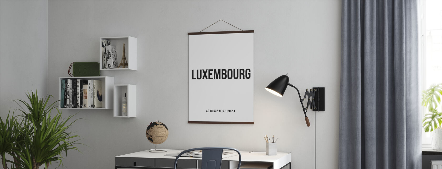 Luxembourg Coordinates - Poster - Office