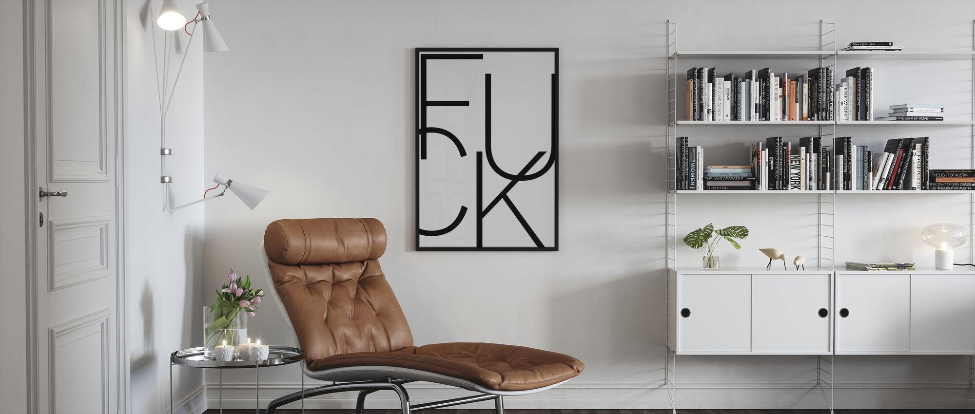Schablone Fuck - Poster - Wohnzimmer