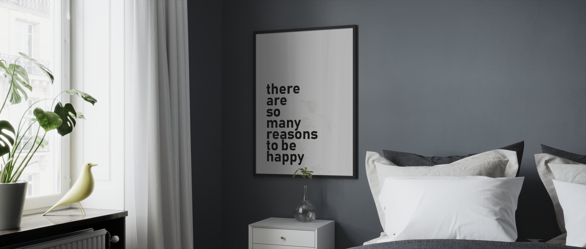 Reasons to be Happy - Framed print - Bedroom