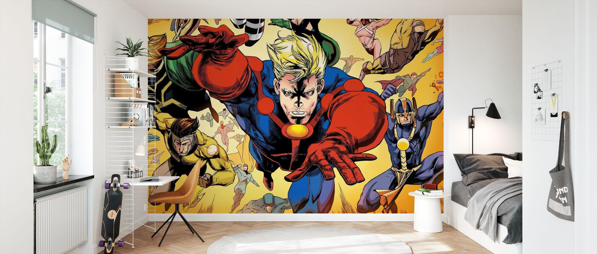 Superheros - Wallpaper - Kids Room