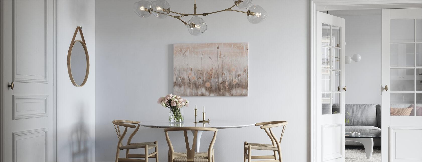 Grassy - Sepia - Canvas print - Kitchen