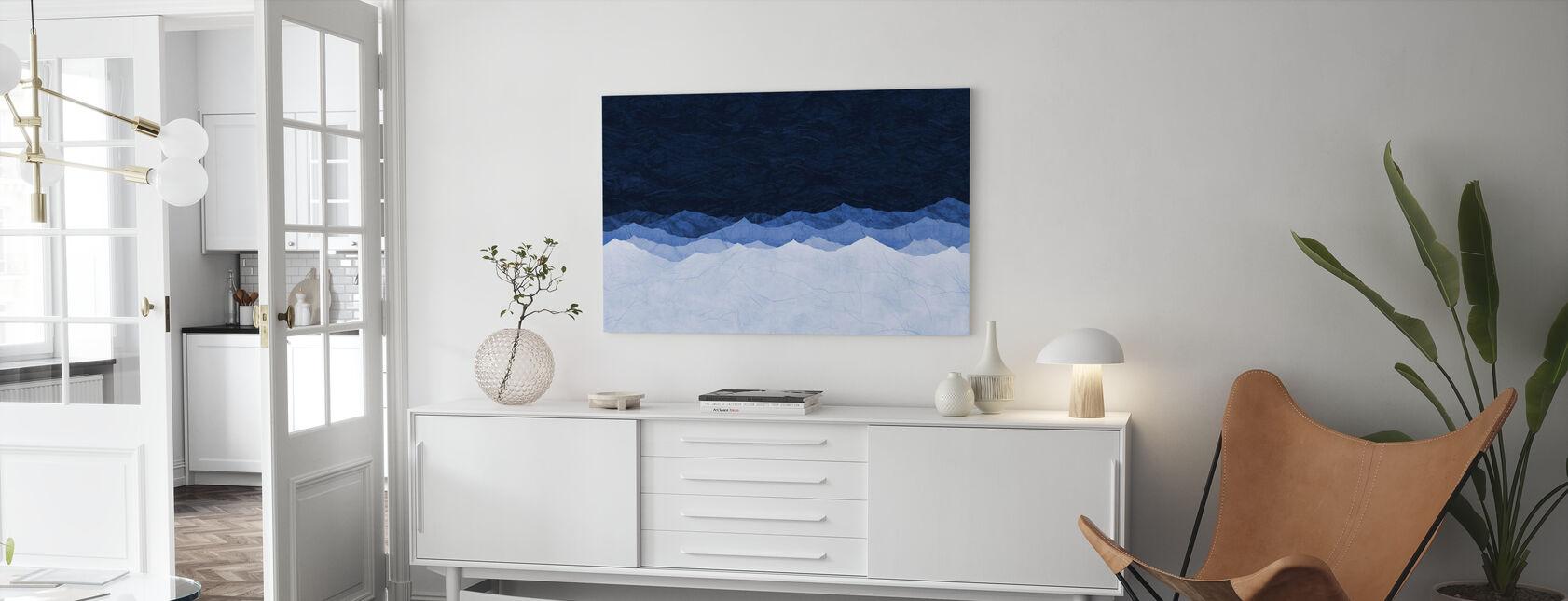 Bergen - Blauw - Canvas print - Woonkamer