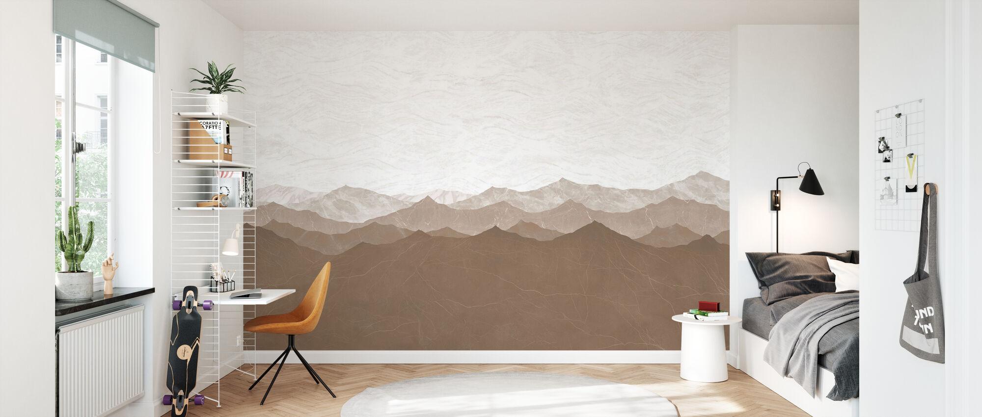 Montagne - Brown - Wallpaper - Kids Room