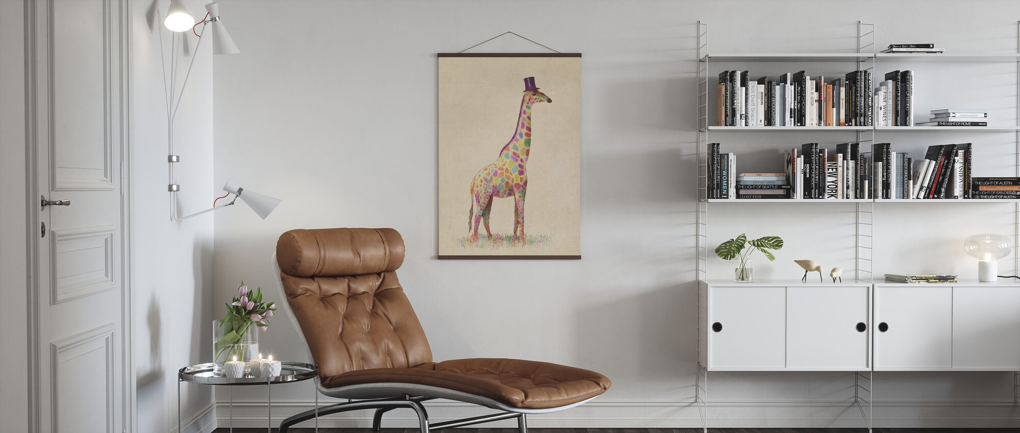 Fashionable Giraffe - Poster - Living Room