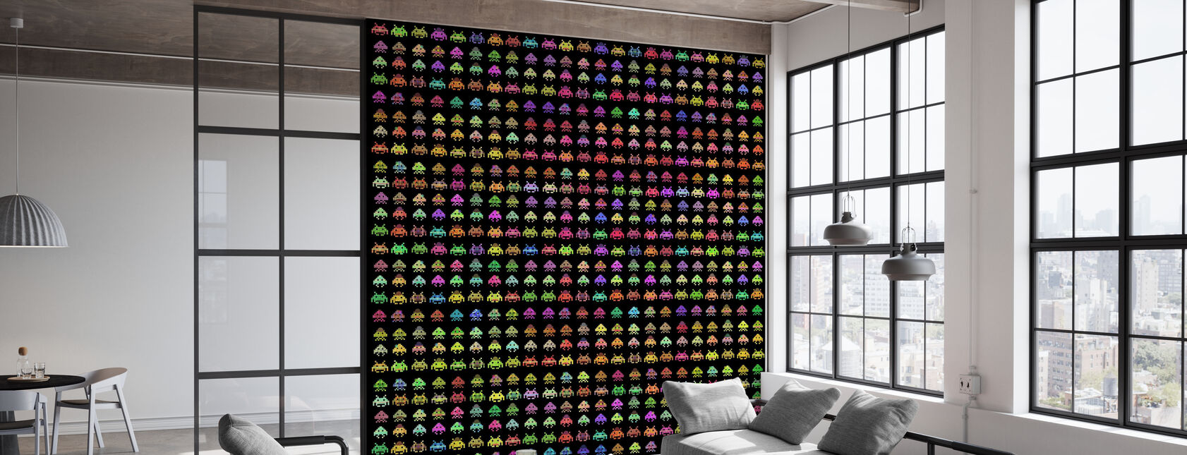 Fashionable Invaders - Wallpaper - Office