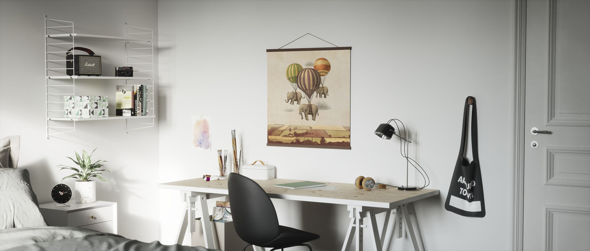 Flight of the Elephants square - Poster - Office