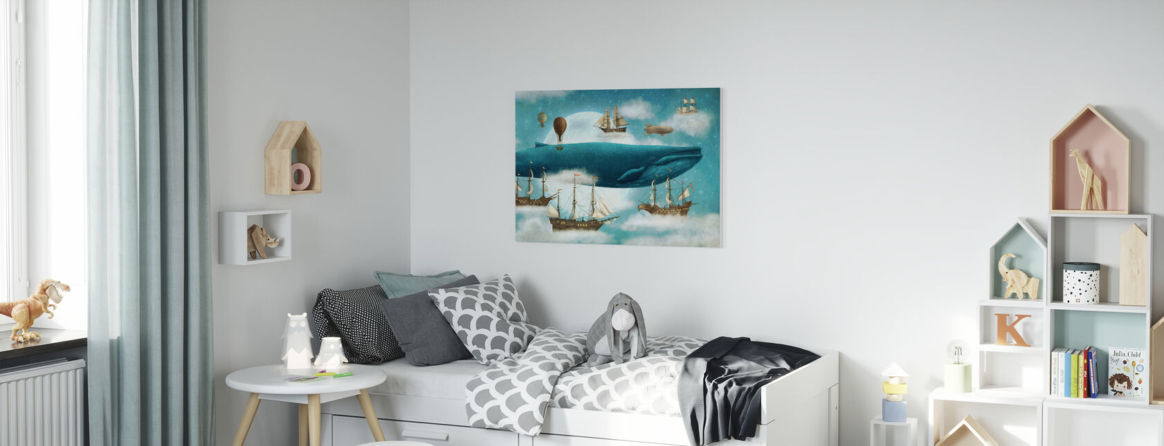 Ocean Meets Sky - Canvas print - Kids Room