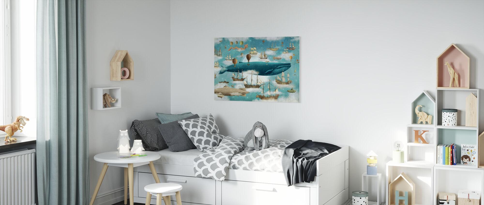 Ocean Meets Sky Cover - Canvas print - Kids Room