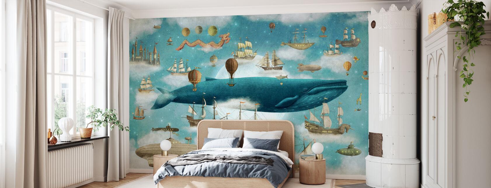 Ocean ontmoet Sky Cover - Behang - Slaapkamer