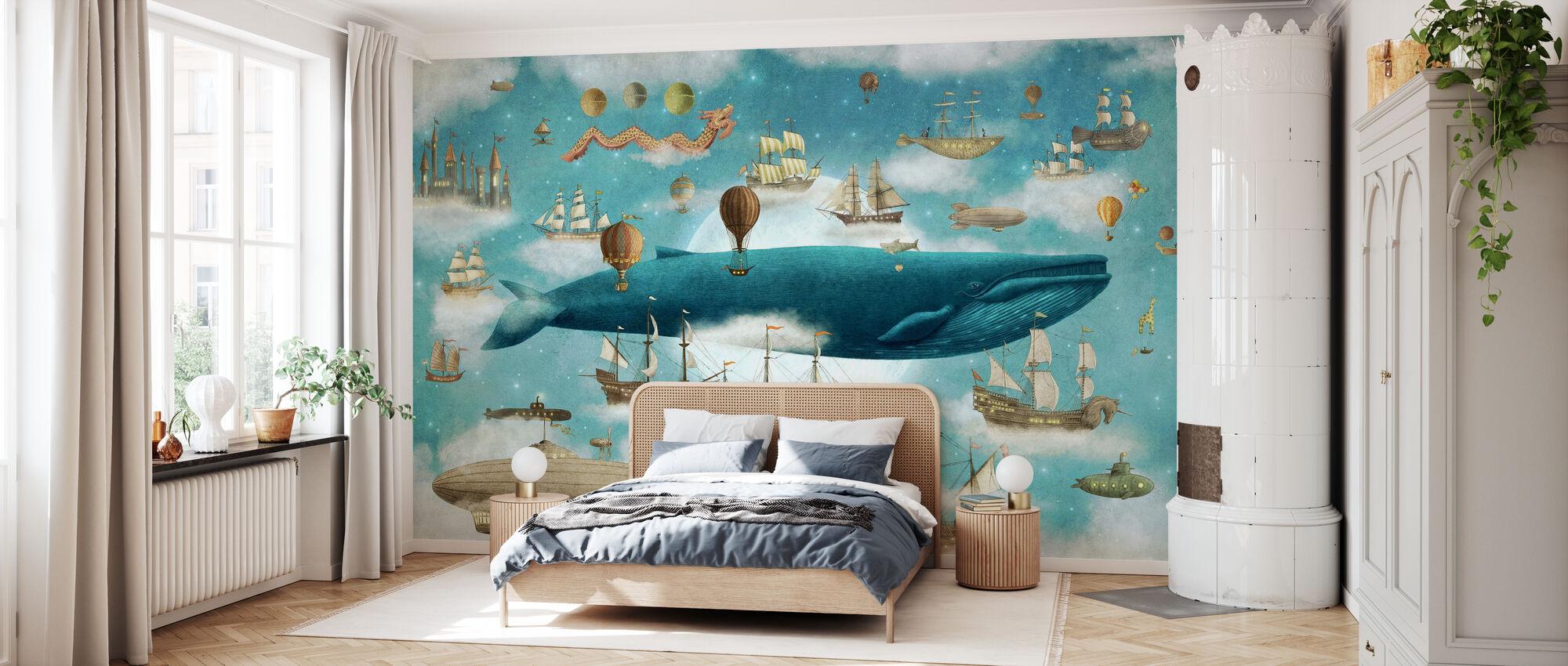 Ocean Meets Sky Cover - Wallpaper - Bedroom