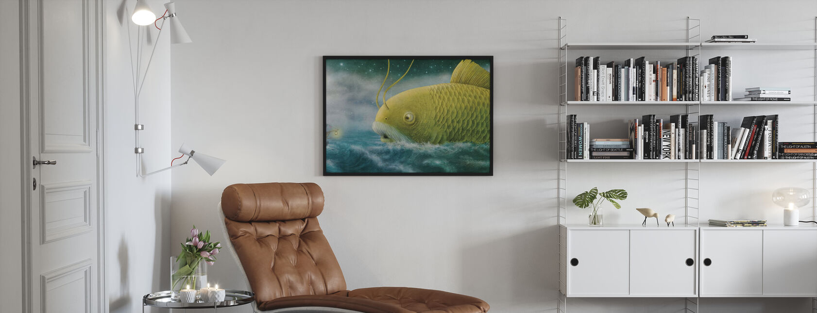 Ocean Meets Sky Finn and the Golden Fish - Poster - Living Room