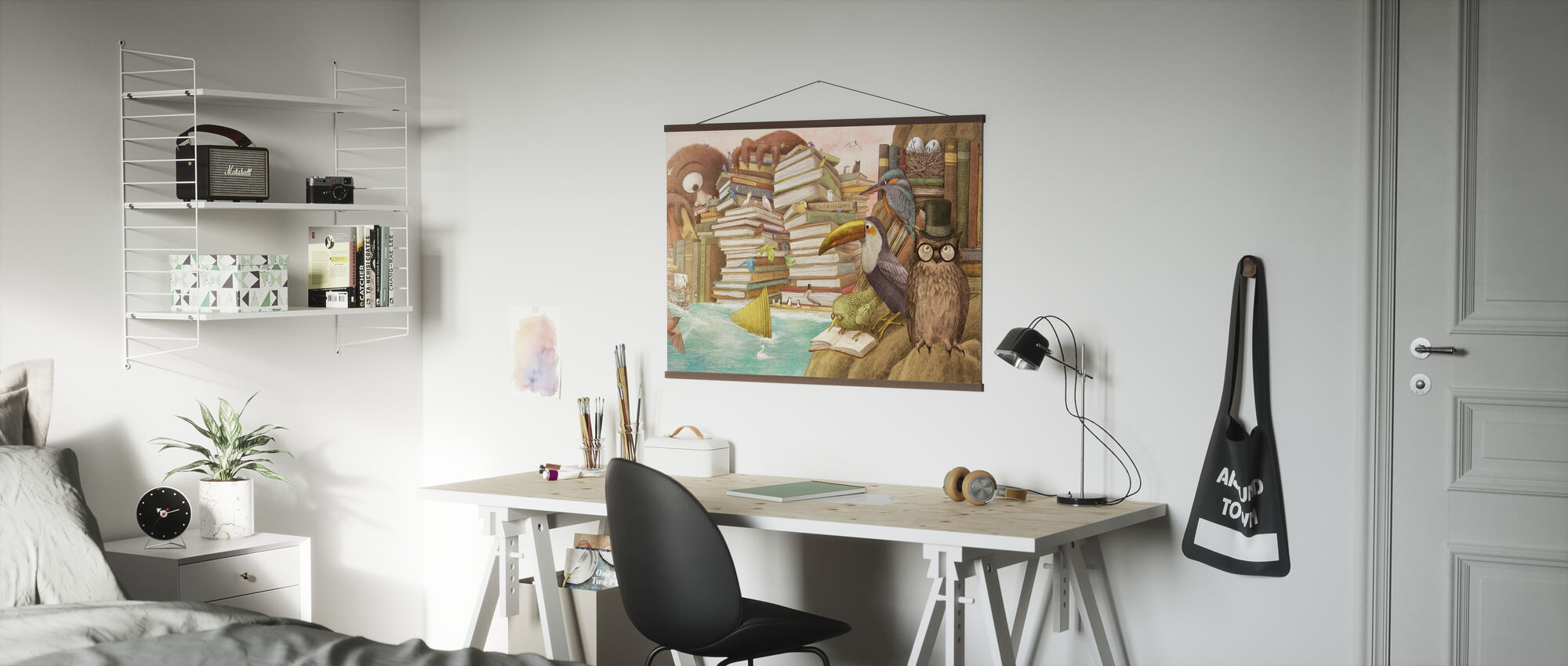 Ocean Meets Sky Library Islands - Poster - Office