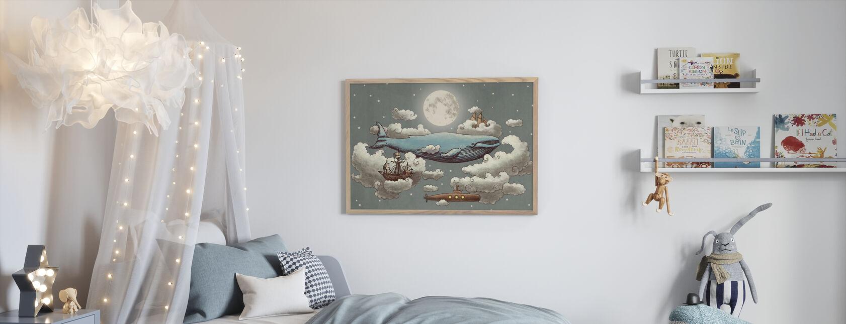 Ocean Meets Sky Original - Framed print - Kids Room