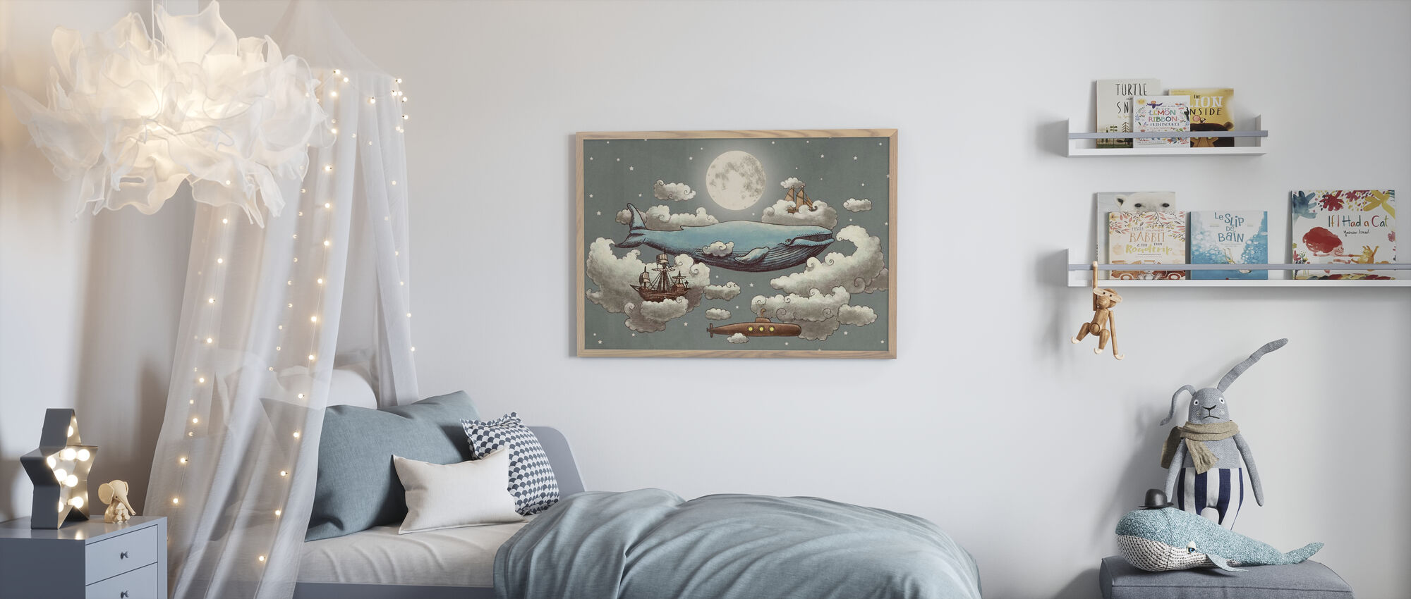 Ocean Meets Sky Original - Framed print - Kids Room