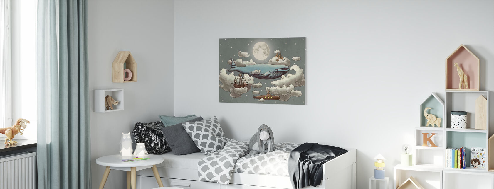 Ocean Meets Sky Original - Canvas print - Kids Room