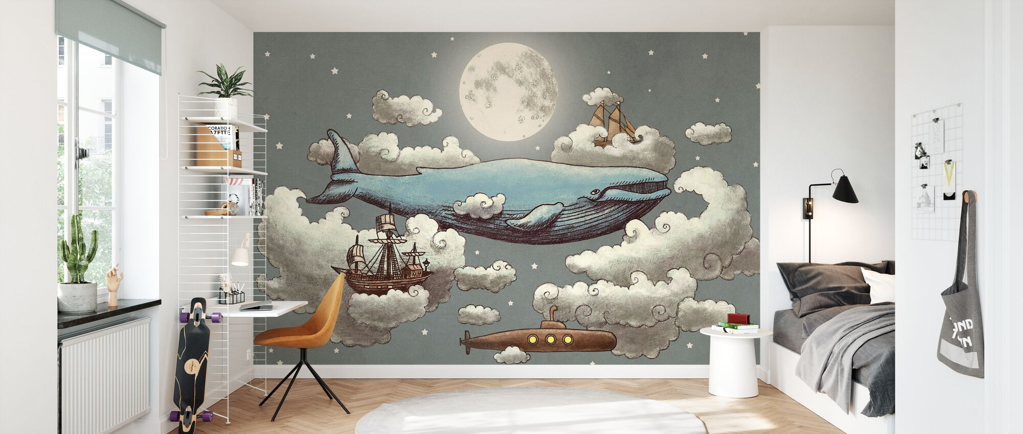 Ocean meets Sky Original - Behang - Kinderkamer