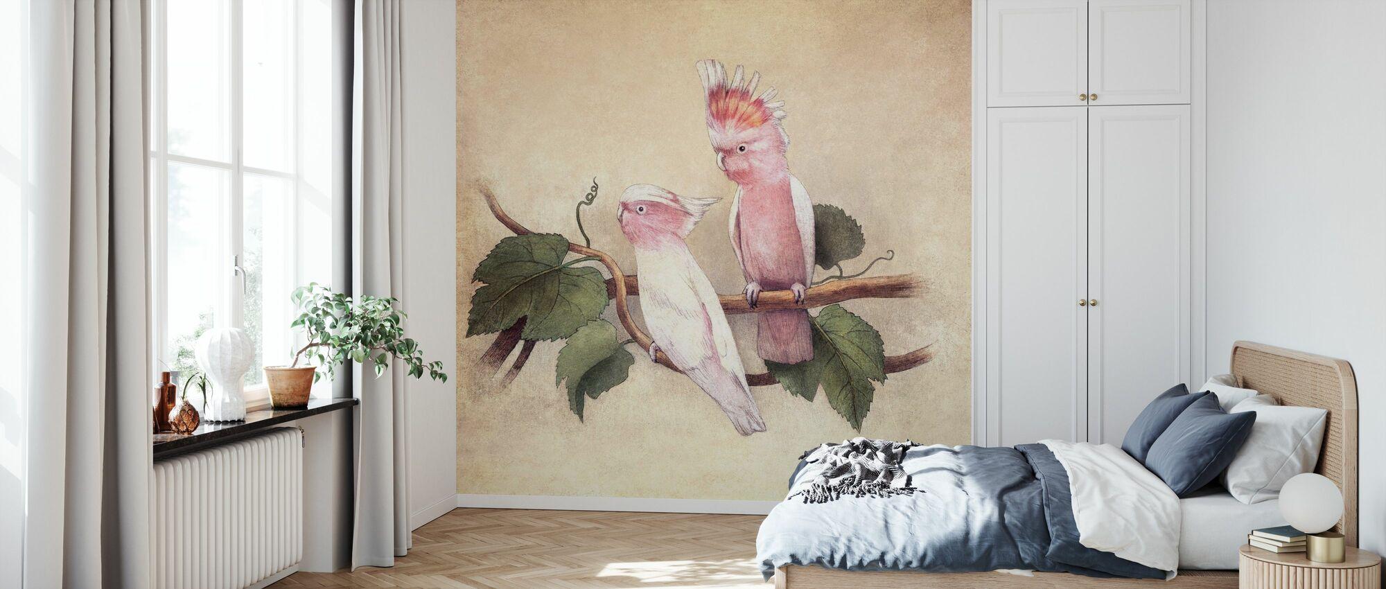 Pink Cockatoos - Wallpaper - Bedroom
