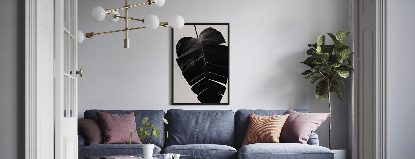 Zwarte Blad - Poster - Woonkamer