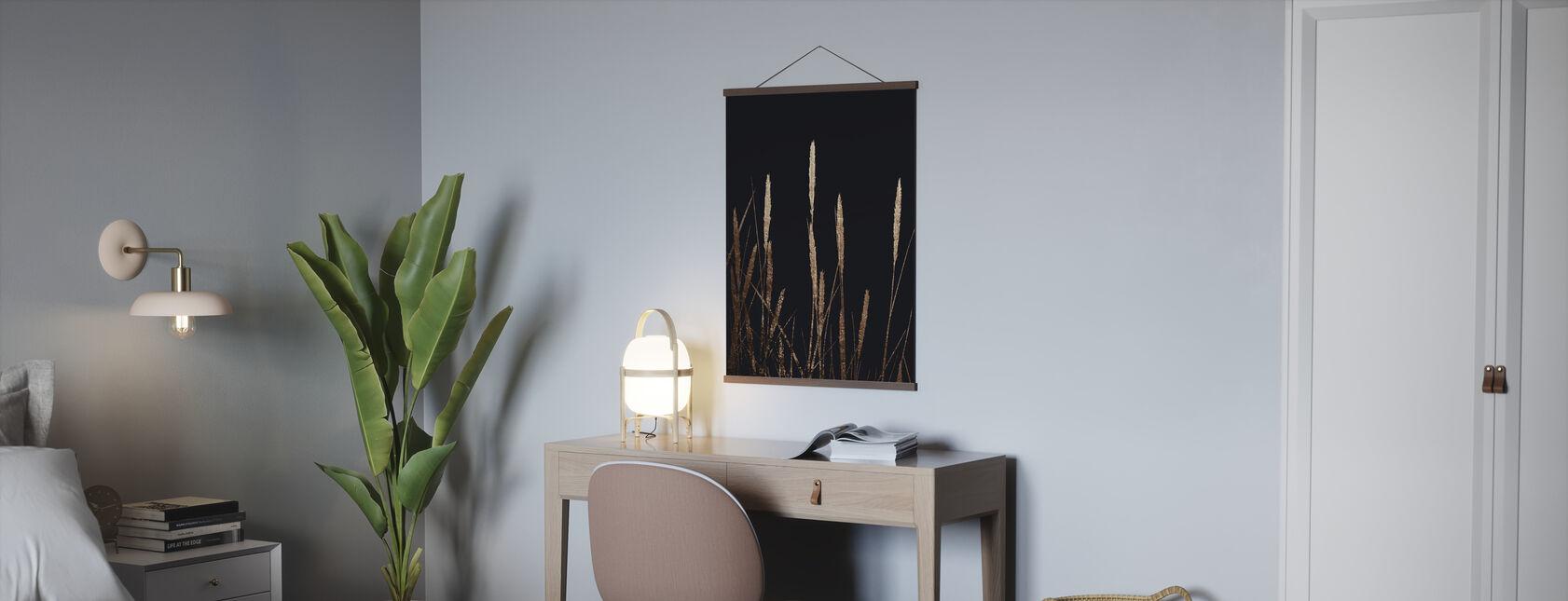 Gouden velden in het donker - Poster - Kantoor