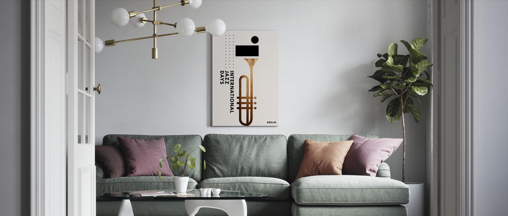 Jazzy Days III - Canvas print - Living Room
