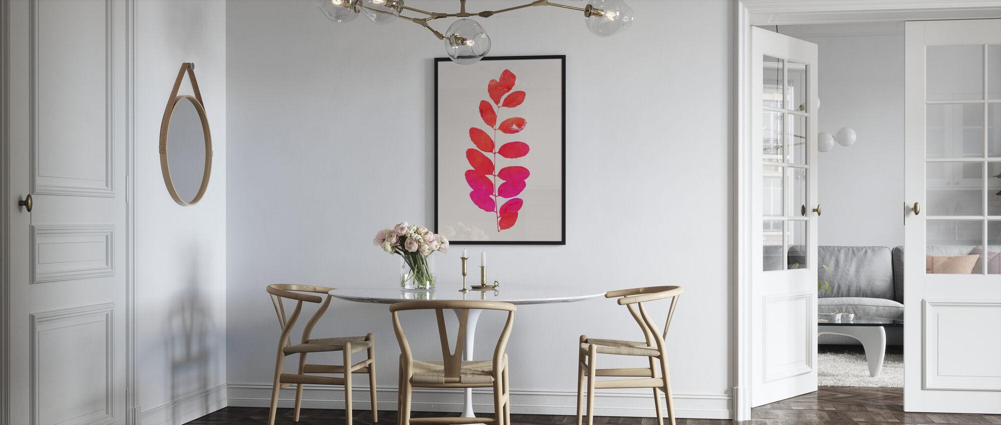 Leaf - Pink - Poster - Kitchen