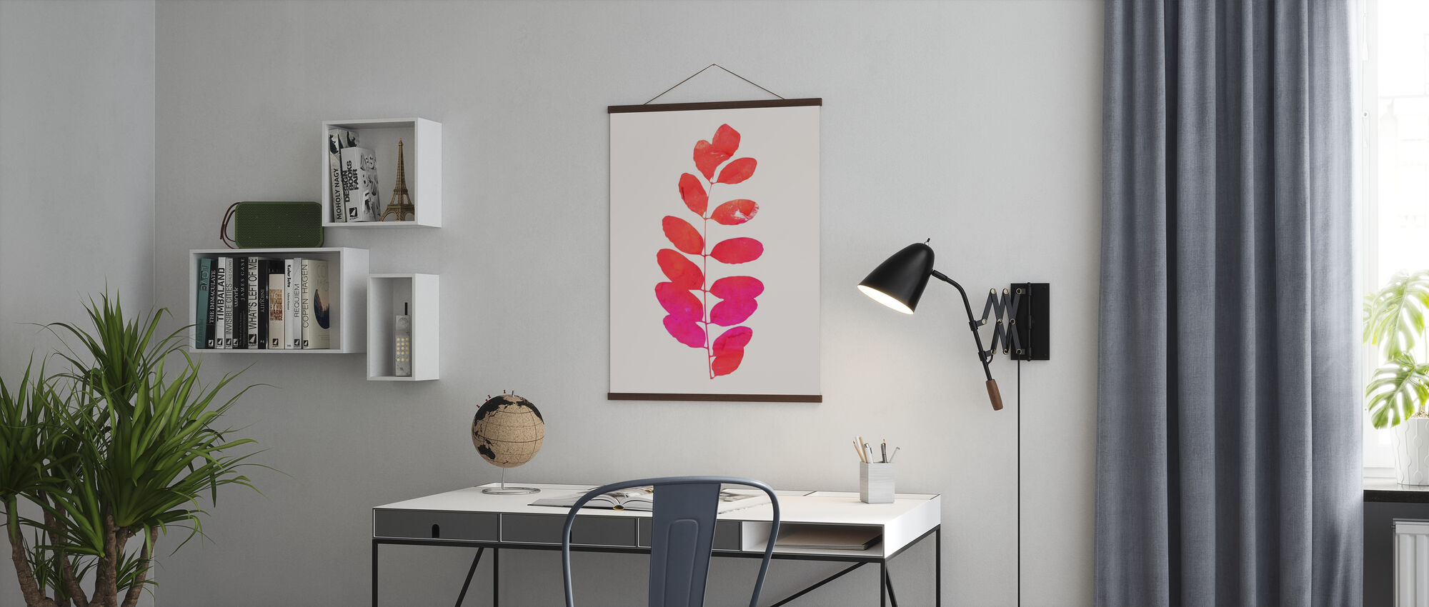 Leaf - Pink - Poster - Office