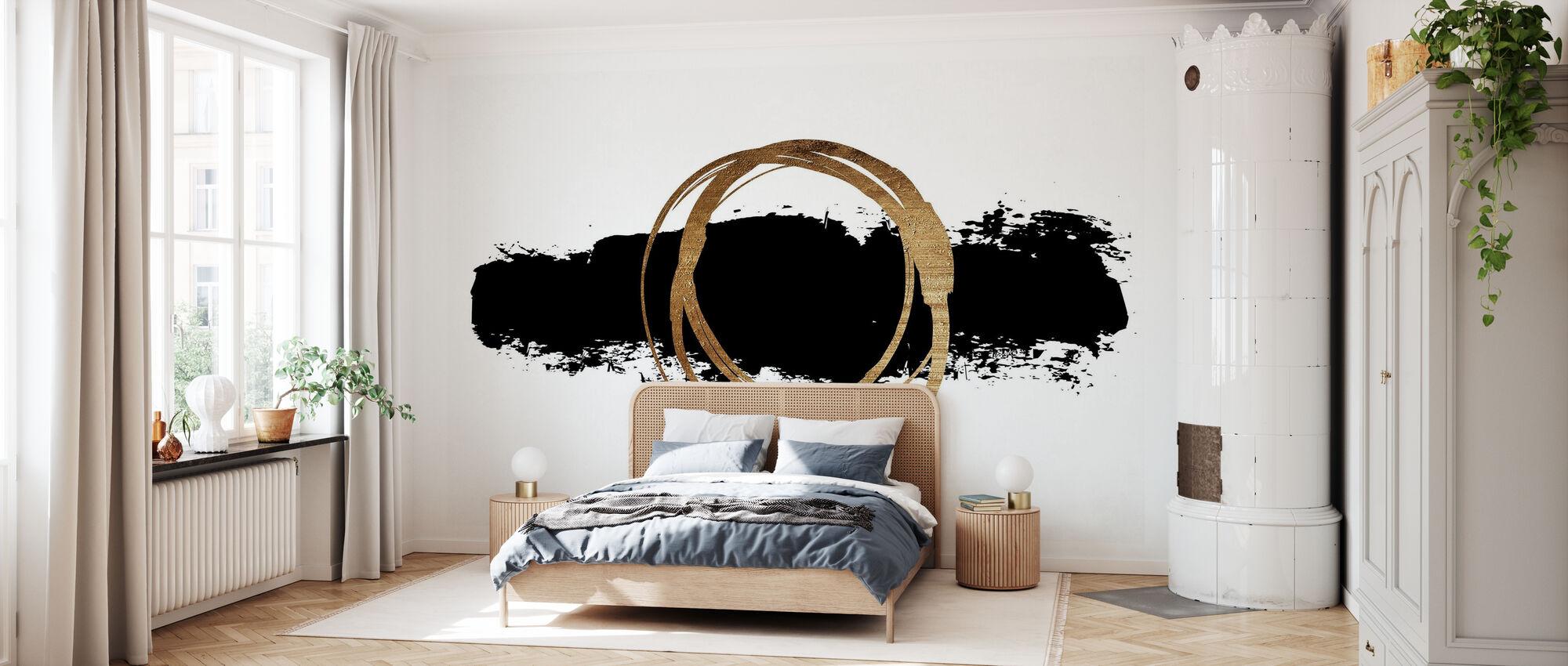 Cirkel En Lijn - Behang - Slaapkamer