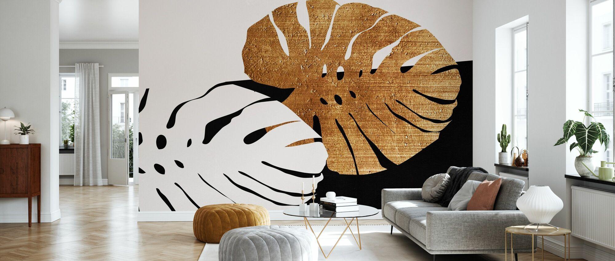 Monstera Leafs - Wallpaper - Living Room