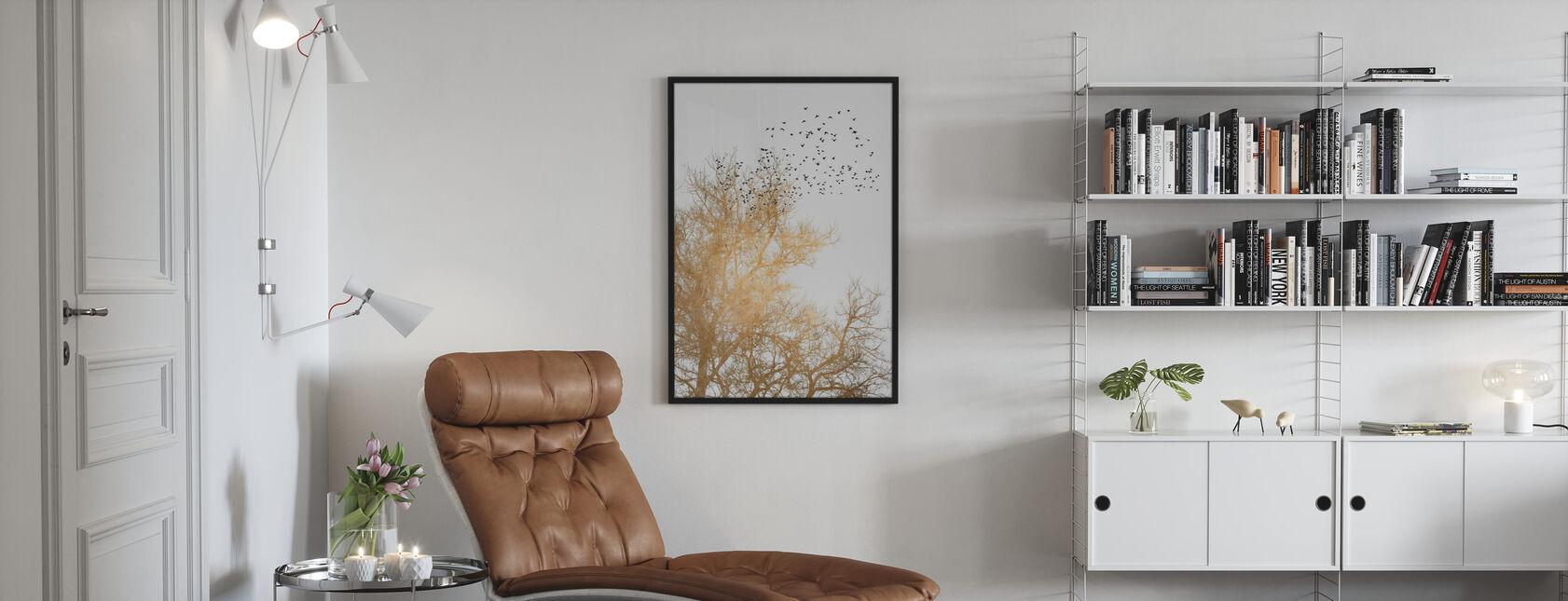 Golden Skies - Framed print - Living Room