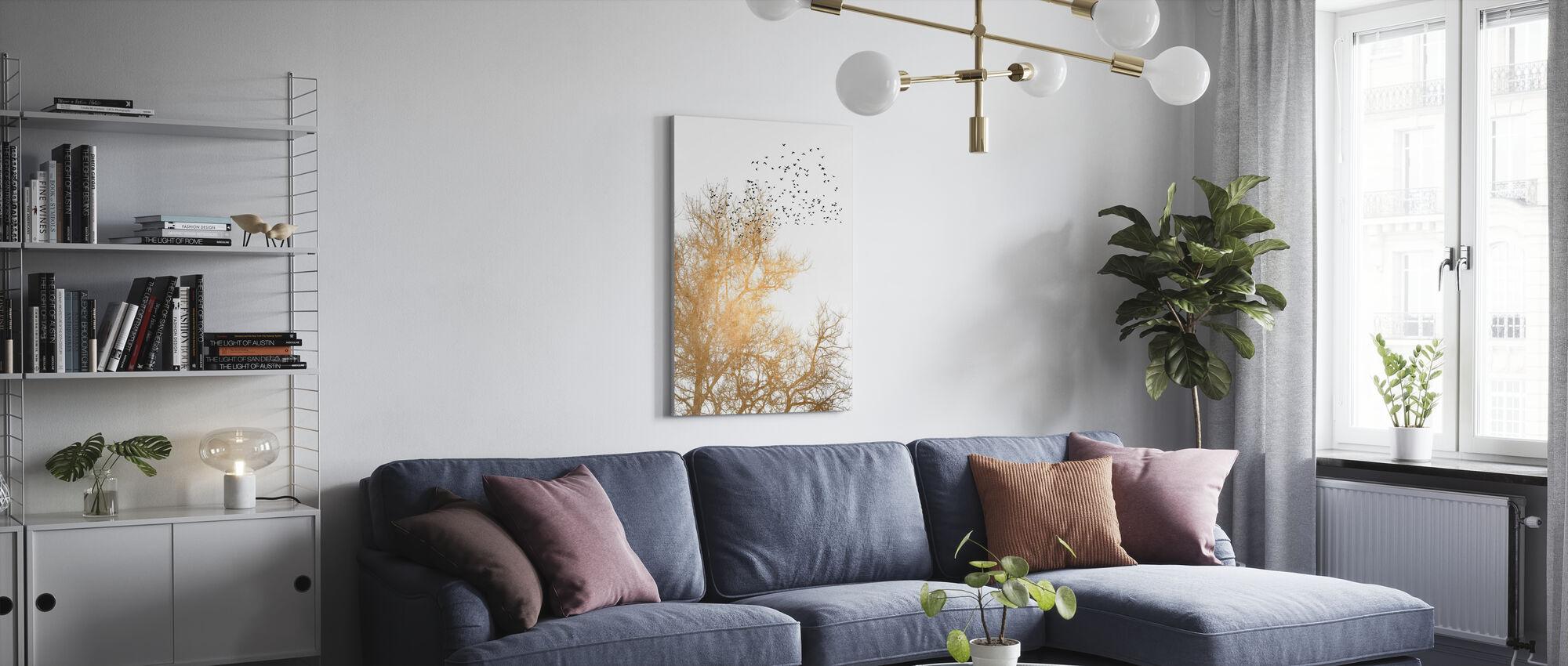 Gouden Luchten - Canvas print - Woonkamer