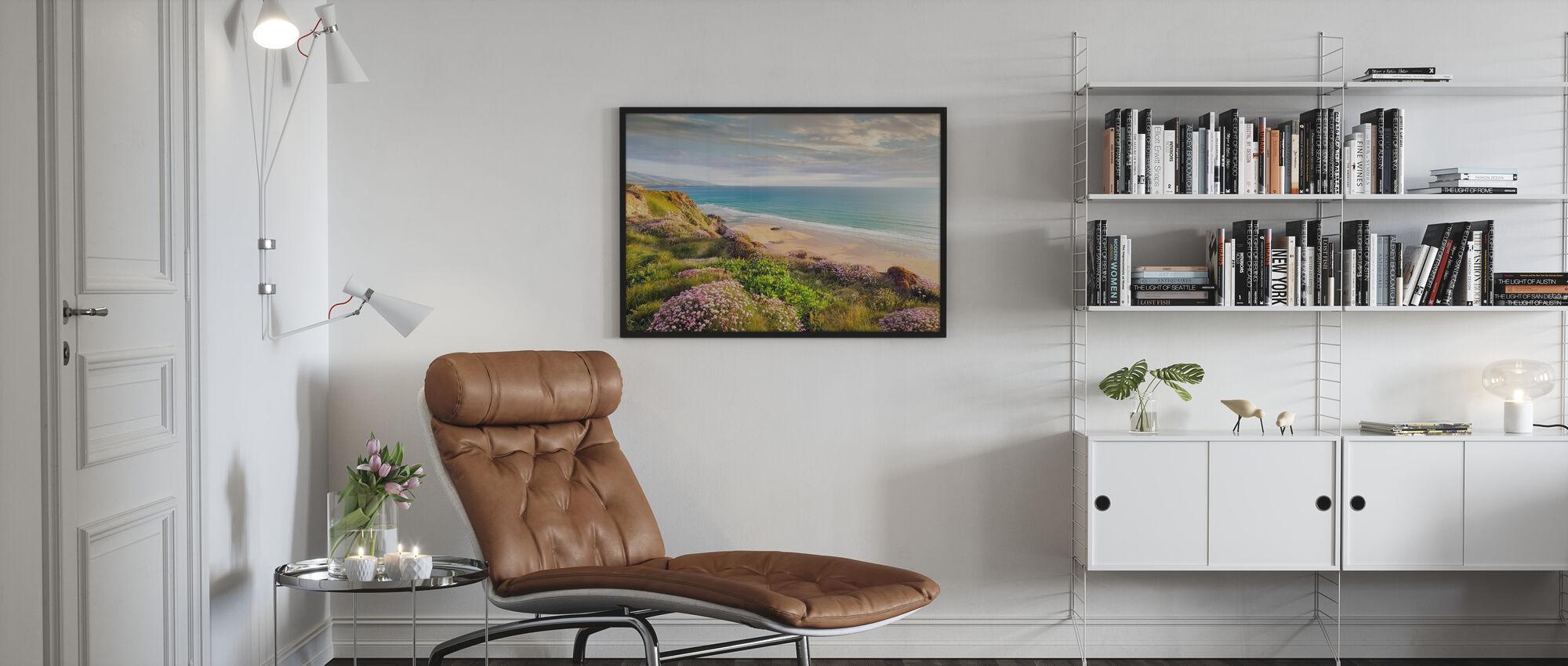 Beach Flower - Framed print - Living Room