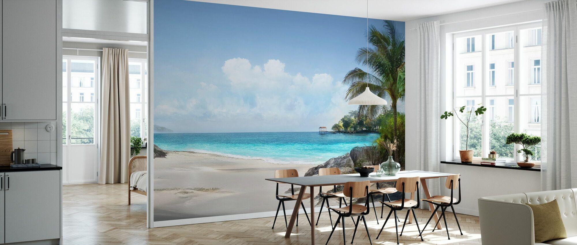 Tropisk sandstrand - Tapet - Kjøkken