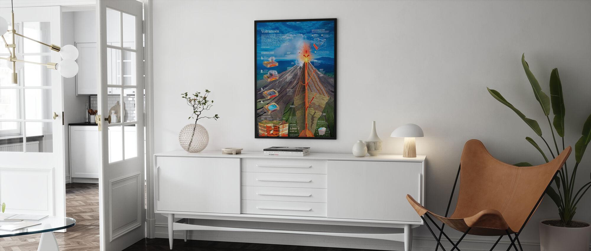 Vulkanen - Ingelijste print - Woonkamer