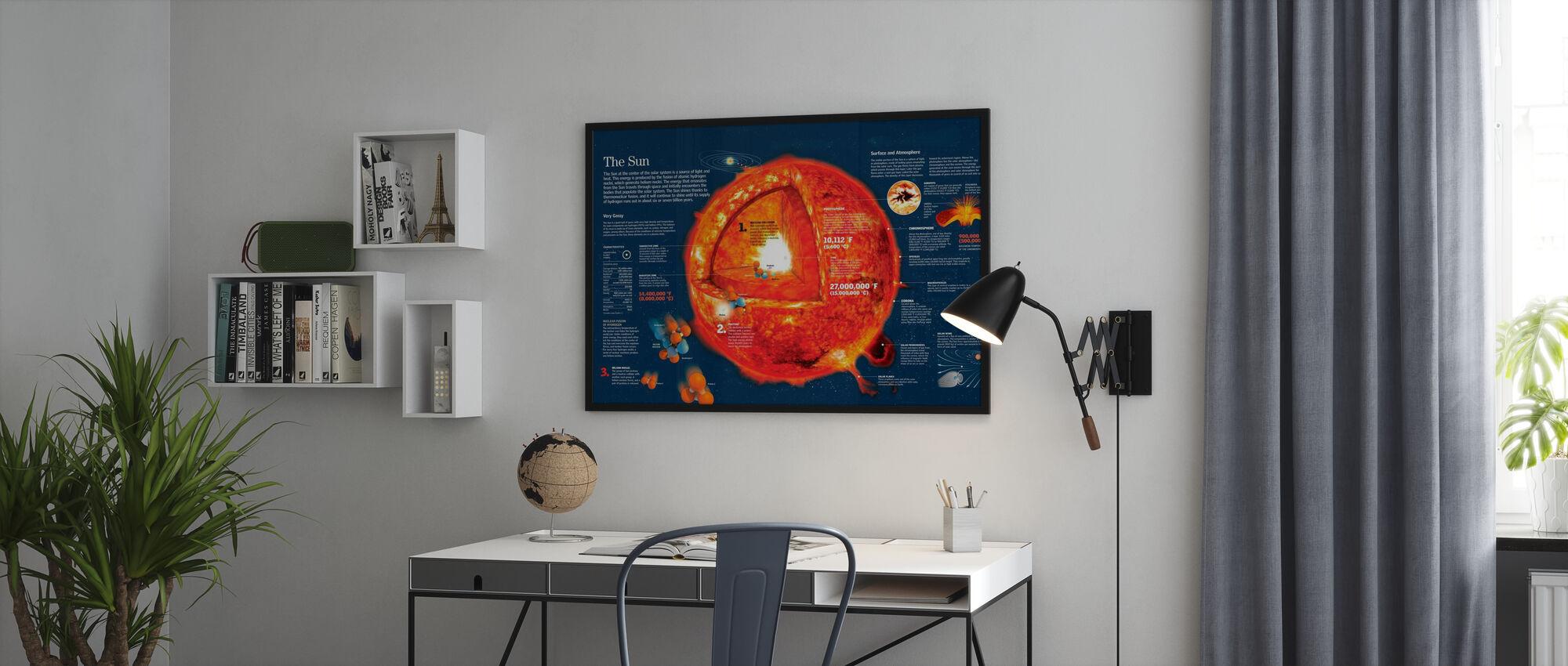 Aurinko - Kehystetty kuva - Toimisto