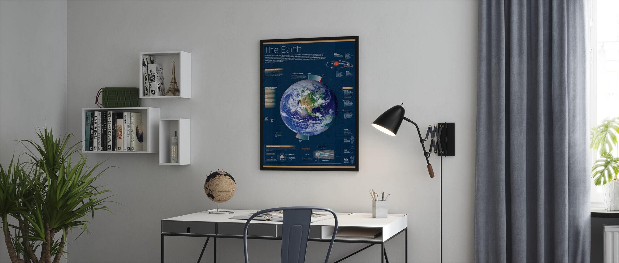 Maa - Kehystetty kuva - Toimisto