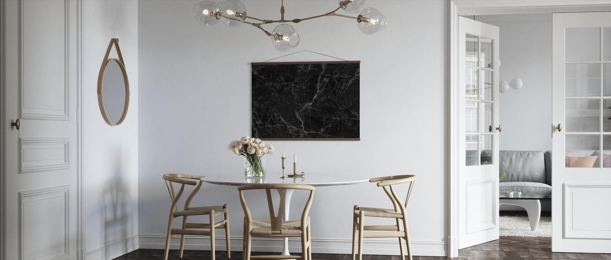 Zwart marmer - Poster - Keuken