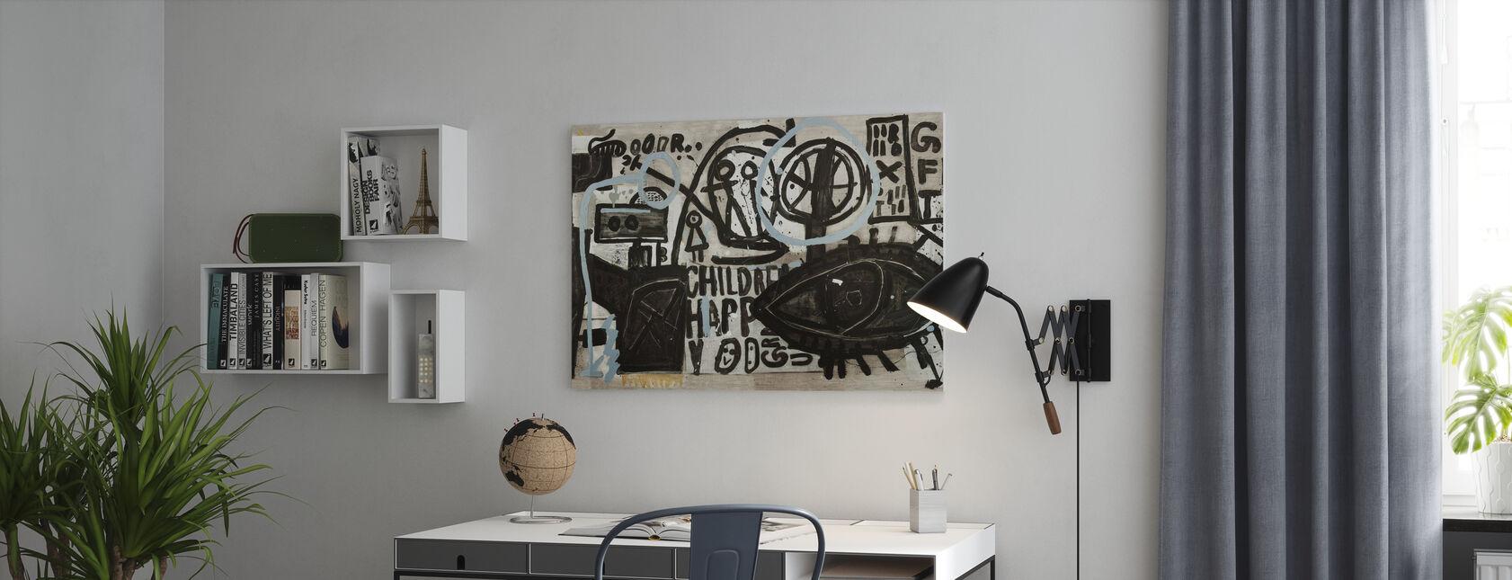 Graffiti Straatmuur - Canvas print - Kantoor