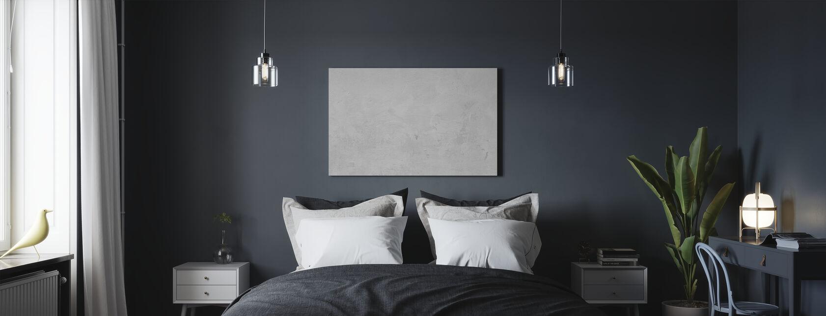 White Concrete Wall - Canvas print - Bedroom