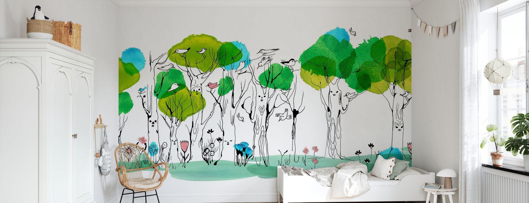 Flüsterender Baum - Tapete - Kinderzimmer