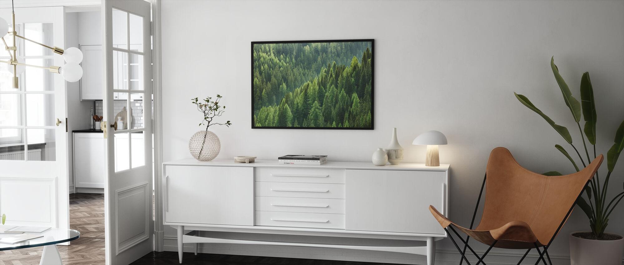Gröna träd i skogen - Poster - Vardagsrum
