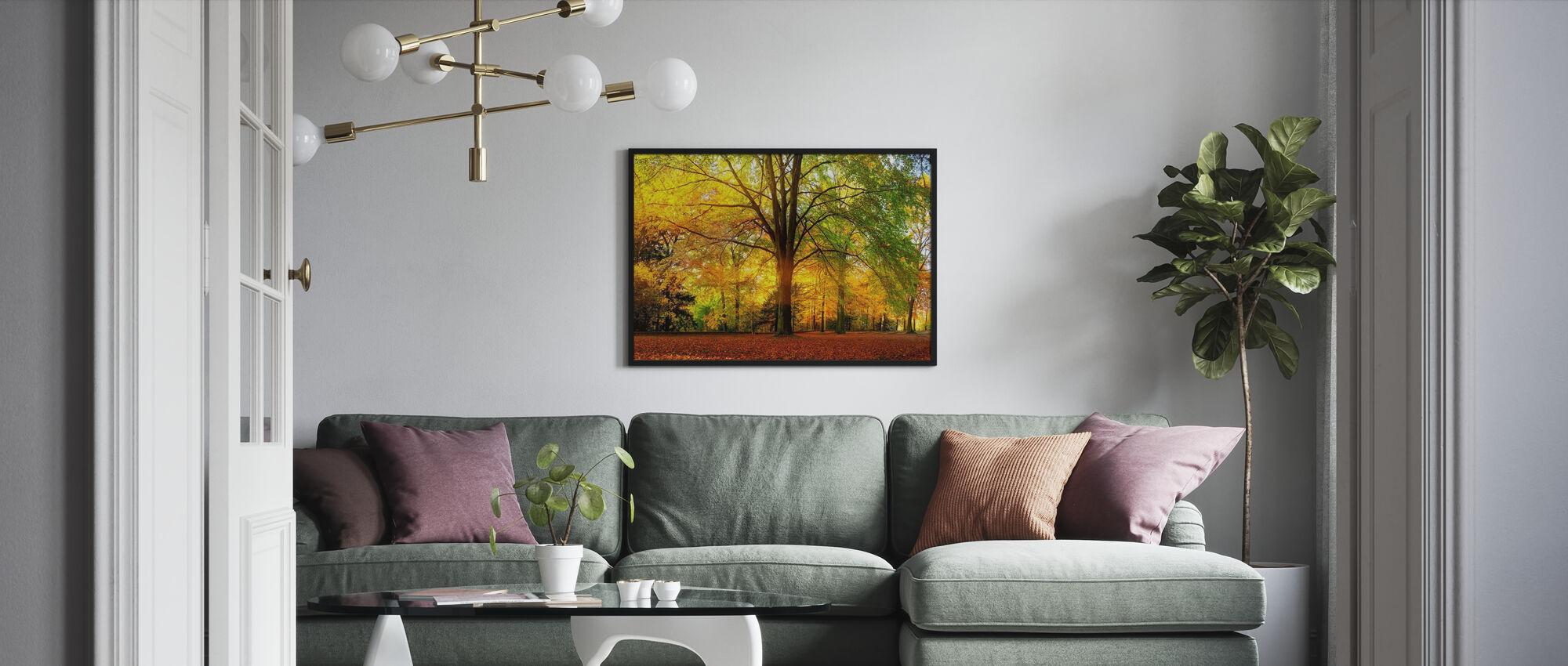 Bos in de herfst - Ingelijste print - Woonkamer