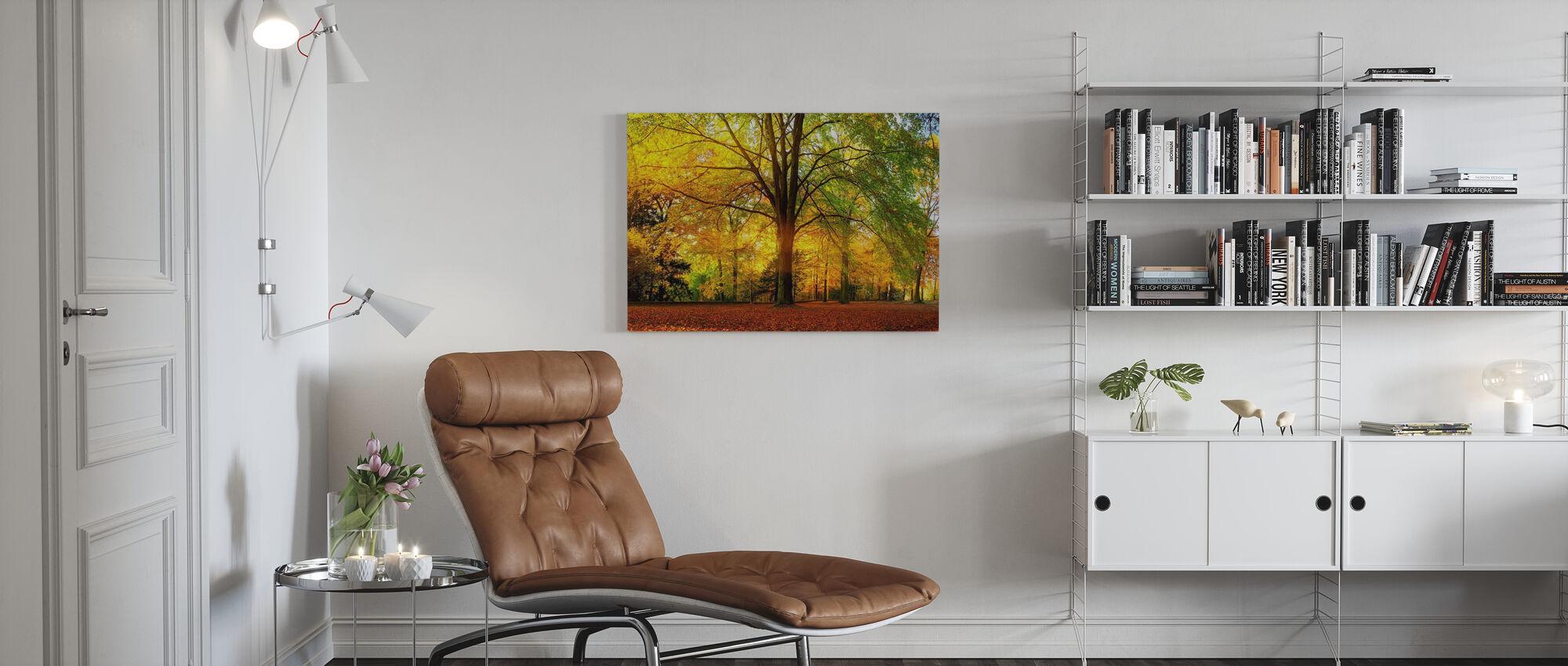 Bos in de herfst - Canvas print - Woonkamer