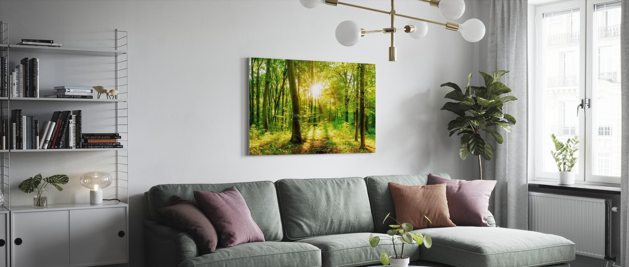 Let it Shine - Canvas print - Living Room