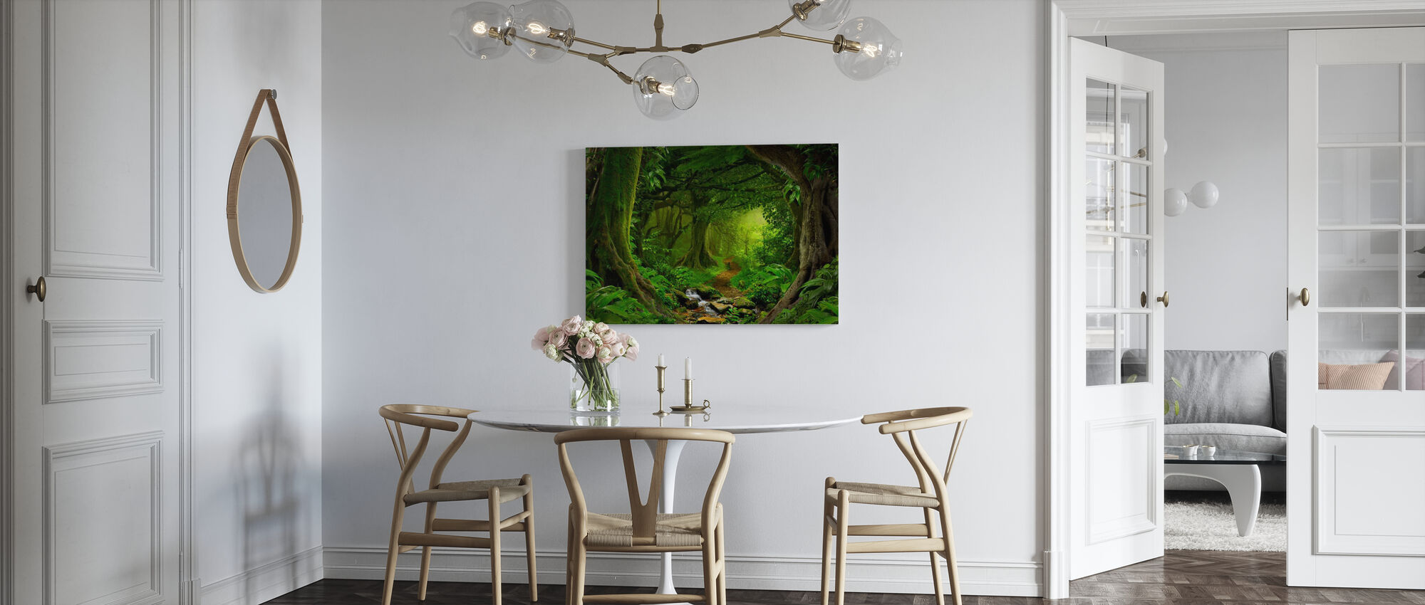 Tropical Jungle - Canvas print - Kitchen